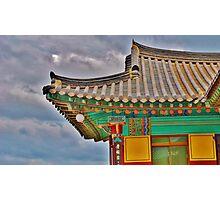 Korean Temple Roof Photographic Print