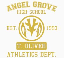 Angel Grove H.S. (White Ranger Edition) One Piece - Short Sleeve