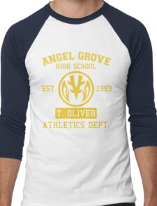 Angel Grove H.S. (White Ranger Edition) Men's Baseball ¾ T-Shirt