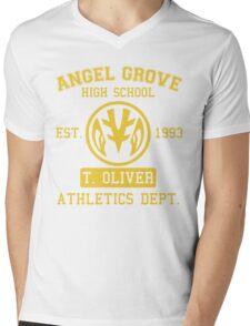 Angel Grove H.S. (White Ranger Edition) Mens V-Neck T-Shirt