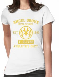 Angel Grove H.S. (White Ranger Edition) Womens Fitted T-Shirt