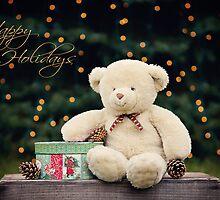 Happy Holidays Teddy Bear  by Renee Dawson