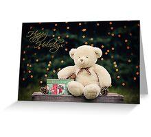 Happy Holidays Teddy Bear  Greeting Card