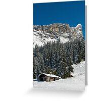 Chaine de Fiz French Alps  Greeting Card