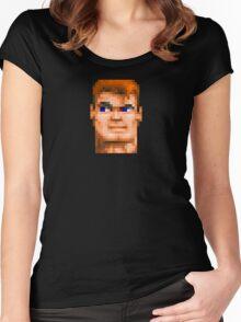 Wolfenstein 3D (Head) - Retro DOS game fan shirt HD pixels Women's Fitted Scoop T-Shirt