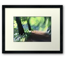Imressionist Woodland - The Path Framed Print