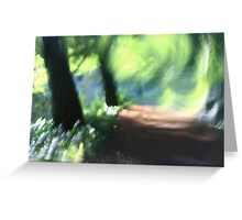 Imressionist Woodland - The Path Greeting Card
