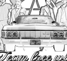 Supernatural team Free Will White Sticker