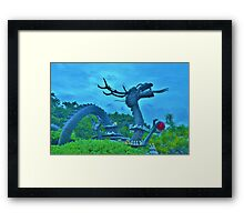 Dragon Statue in Busan, South Korea Framed Print