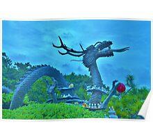 Dragon Statue in Busan, South Korea Poster