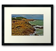 Cliff in Busan, South Korea Framed Print