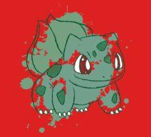 Bulbasaur Splatter Kids Clothes