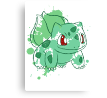 Bulbasaur Splatter Canvas Print