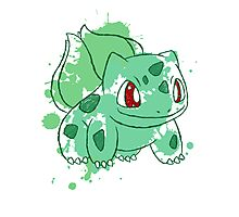 Bulbasaur Splatter Photographic Print