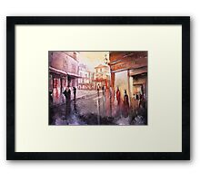 Watercolor - Sunset over Montmartre - Paris Framed Print