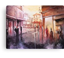 Watercolor - Sunset over Montmartre - Paris Canvas Print