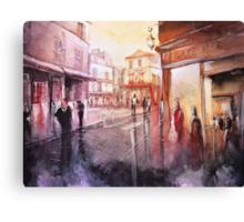 Watercolor - Sunset over Montmartre - Paris Canvas Print