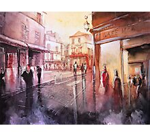 Watercolor - Sunset over Montmartre - Paris Photographic Print