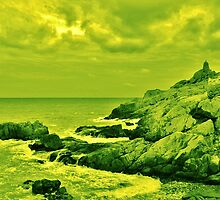 Lime Green Cliff by Fike2308