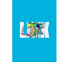 Toon Link Text (Light Blue) Photographic Print