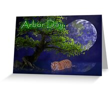 Arbor Day Tiger Greeting Card