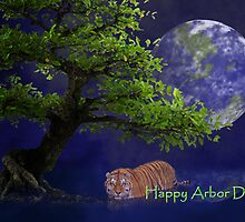 Happy Arbor Day Tiger by jkartlife
