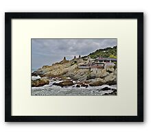Dragon Temple on a Cloudy Day Framed Print