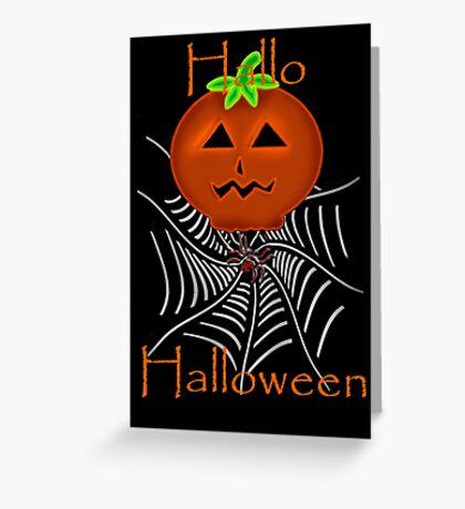 Hallo Halloween Greeting Card