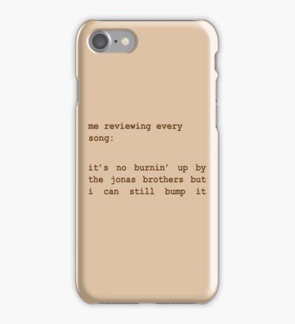 Jonas Brothers Fan Sepia iPhone Case/Skin