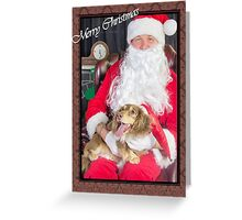 A very doxie Christmas 2 Greeting Card