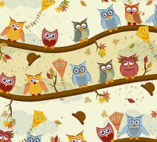 autumn owls  by Ancello
