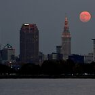 Moon over Cleveland by jdgeier