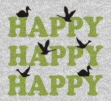 Green Digital Camo Happy Happy Happy Kids Tee