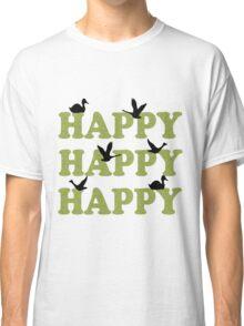 Green Digital Camo Happy Happy Happy Classic T-Shirt
