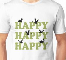 Green Digital Camo Happy Happy Happy Unisex T-Shirt