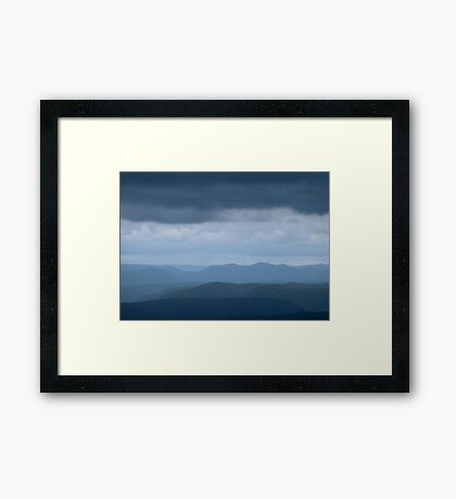 Blue Blue Mountains Framed Print