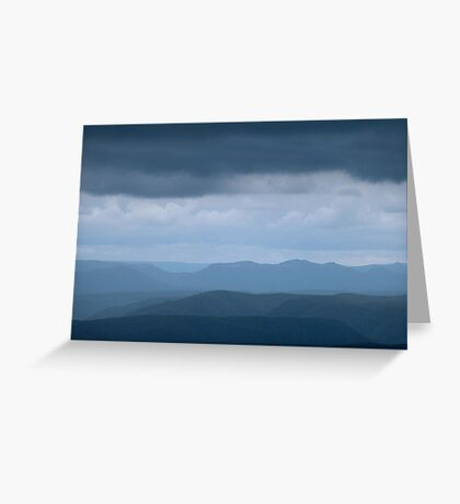Blue Blue Mountains Greeting Card