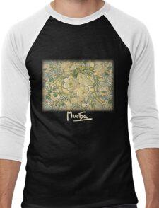 Mucha - Flowers Men's Baseball ¾ T-Shirt