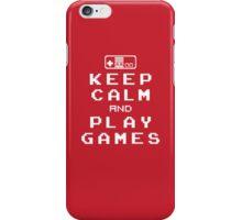 Keep Calm Play Games iPhone Case/Skin