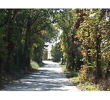 One lane Road Photographic Print