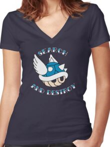 Search and Destroy Women's Fitted V-Neck T-Shirt