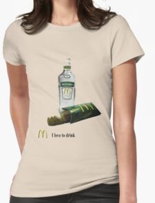 I love to drink Womens Fitted T-Shirt