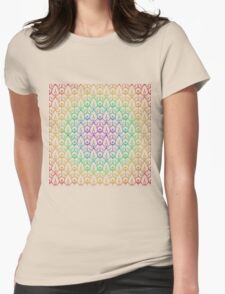Cindi Lace Rainbow Womens Fitted T-Shirt