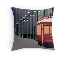 New Orleans Streetcars at Night Throw Pillow