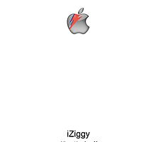 iZiggy, the Bowie iPhone (White) by ChloeJade