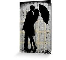 rainy day romantics  Greeting Card