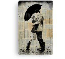 the black umbrella Canvas Print