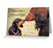 A very doxie Christmas 12 Greeting Card