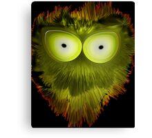 Green Splotchy Canvas Print