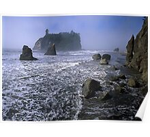 Abbey Island From Ruby Beach, Olympic National Park Poster